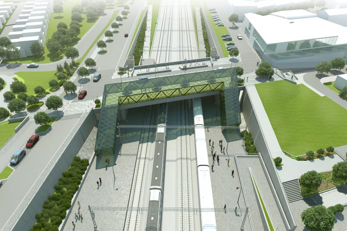 What the new Hjärup station could look like. Credit: Trafikverket.