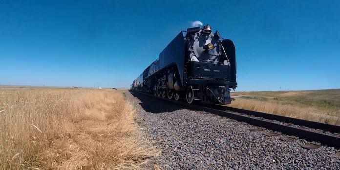 The Union Pacific 844 steam locomotive. Credit: Union Pacific.