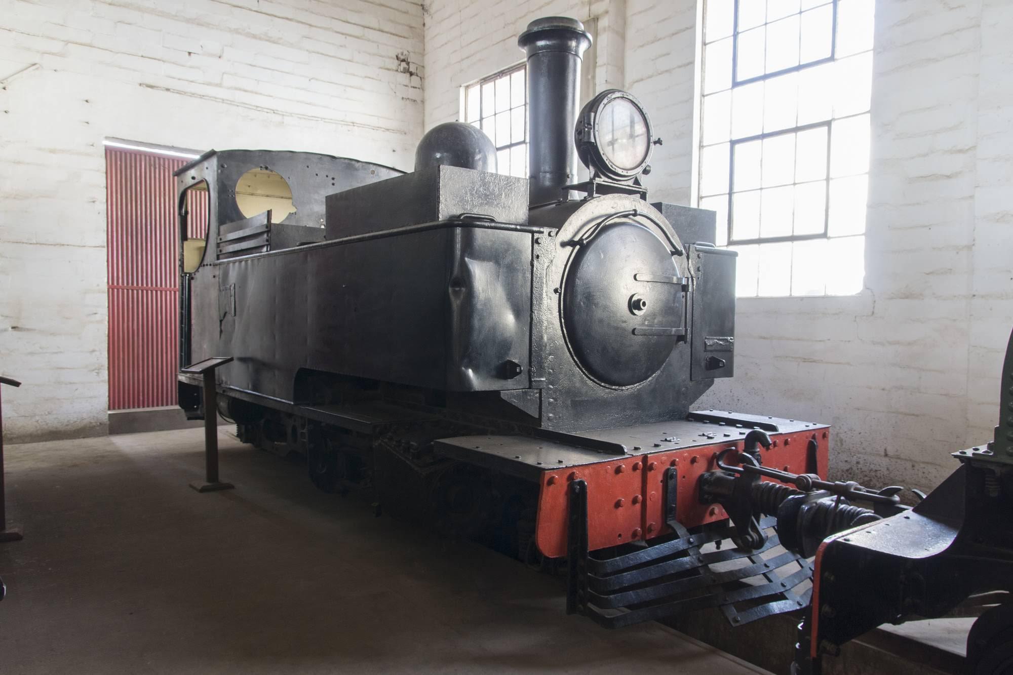 One of the Hunslet locomotives in the Sierra Leone Railway Museum. Credit: William Bickers-Jones.