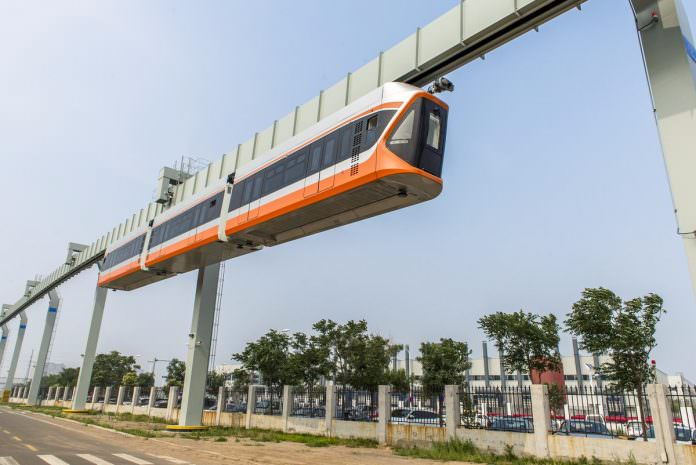 CRRC's suspended monorail. Credit: CRRC.