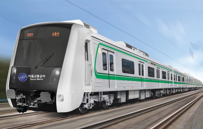 An artist's impression of Seoul metro line 2's new train, to be produced by Hyundai Rotem. Credit: Hyundai Rotem.