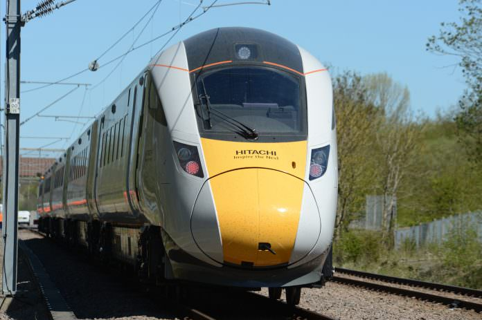 An Hitachi Class 800 train. Credit: Paul Bigland/Hitachi.