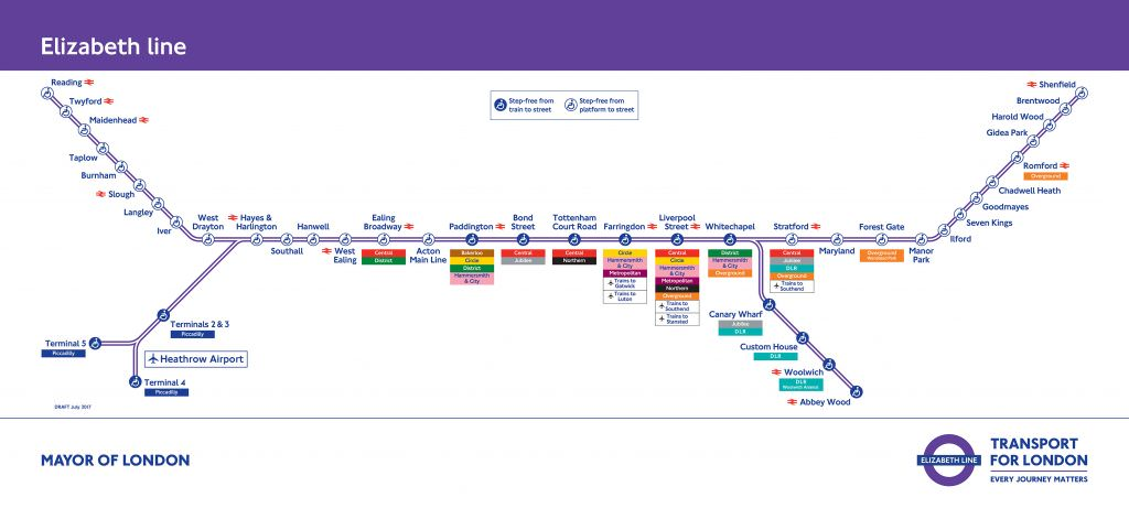 The new Elizabeth line map.