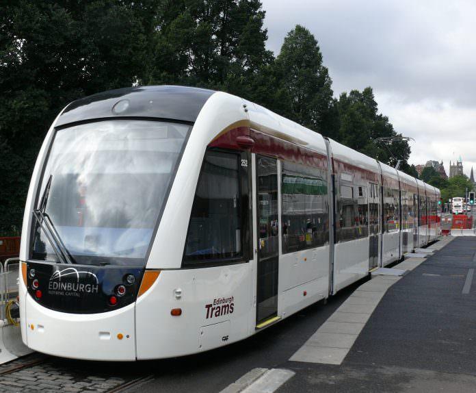 A CAF tram on Edinburgh's tram system. Credit: Ad Meskens/Wikimedia.