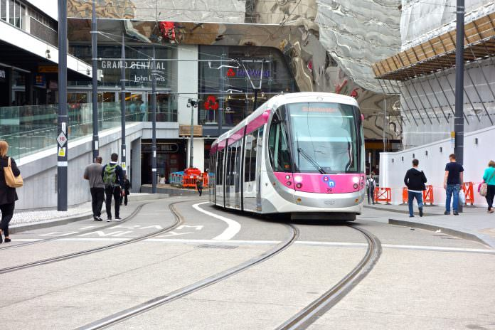 A CAF tram on the Midland Metro. Credit: Chris Jenner/Shutterstock.