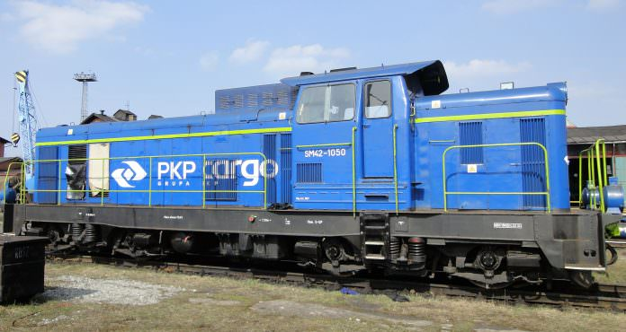 A PKP Cargo diesel locomotive pictured in Węglińcu. Credit: Masur/ Wikimedia.