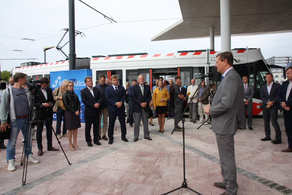 A celebration of the tram extension at its opening ceremony. Credit: Raepress.