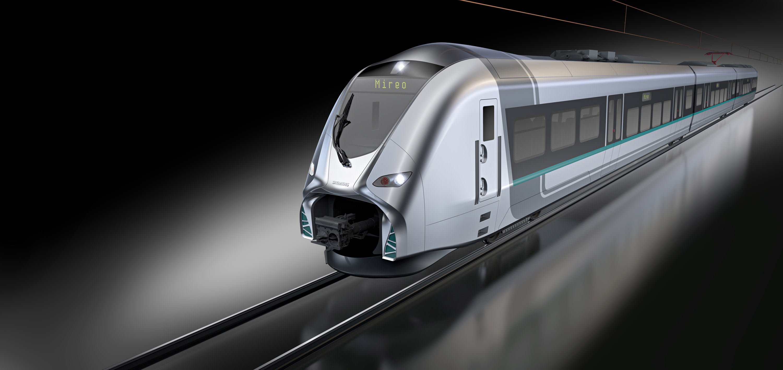 A Mireo trainset. Photo: Siemens.