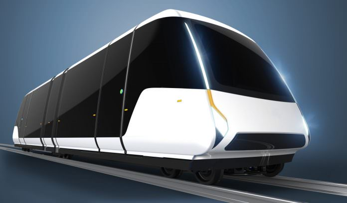 The design concept of a Coventry tram. Credit: The University of Warwick.