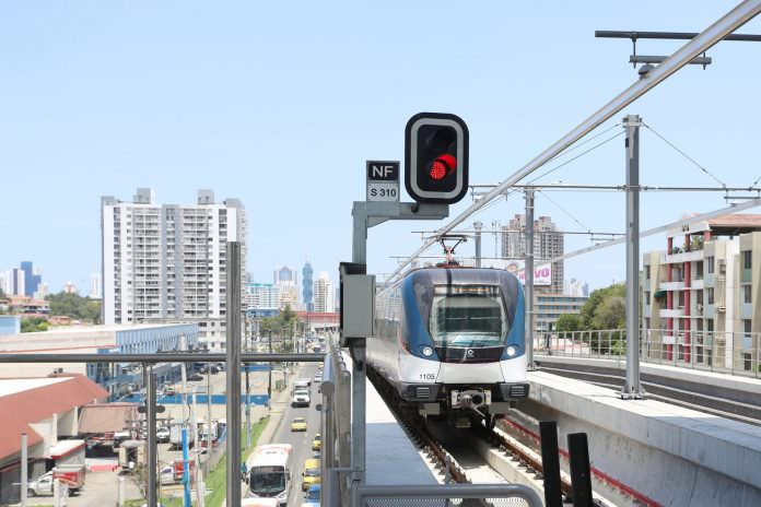 A stock photo of the Panama Metro. Credit: Maria Maarbes/Shutterstock.