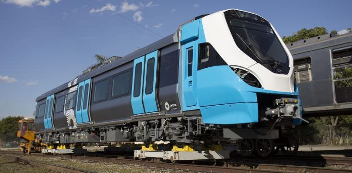 One of the X'Ttrapolis trains manufactured in São Paulo. Credit: Alstom.