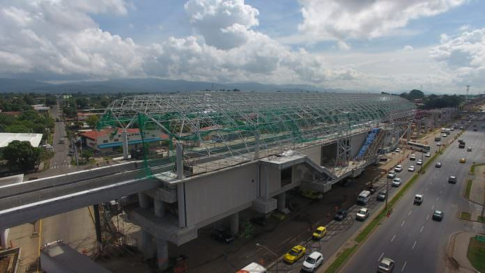 A progress picture of Estación Pedregal. Credit: Panama Metro.