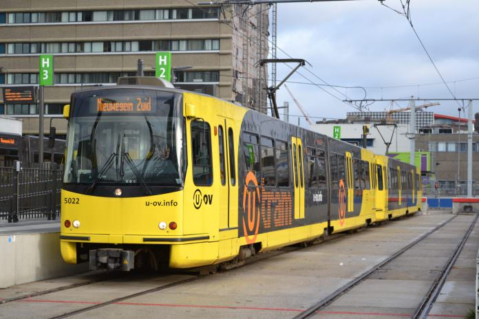 The Qbuzz operated Utrecht sneltram service U-OV. Credit: Bonaber.