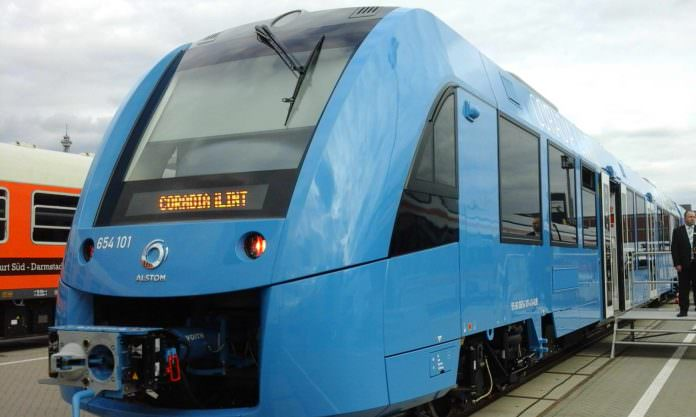 The Coradia iLint at InnoTrans in 2016. Credit: Lesley Brown.