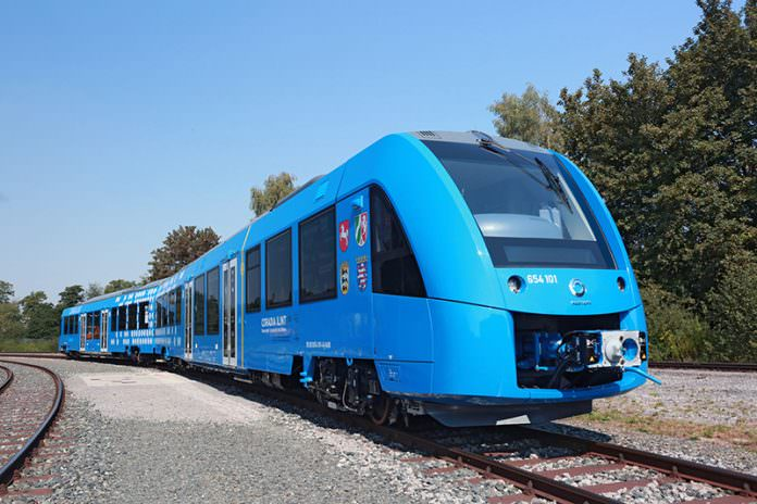 Alstom's Coradia iLint, a hydrogen-powered train. Credit: Alstom.