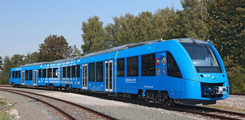 Alstom's Coradia iLint, a hydrogen-powered train. Photo: Alstom.