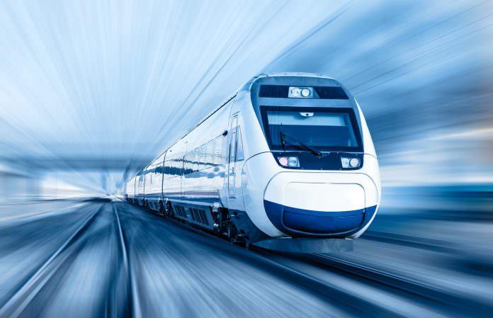 A stock photo of a high-speed train. Credit: Muratart/Shutterstock.