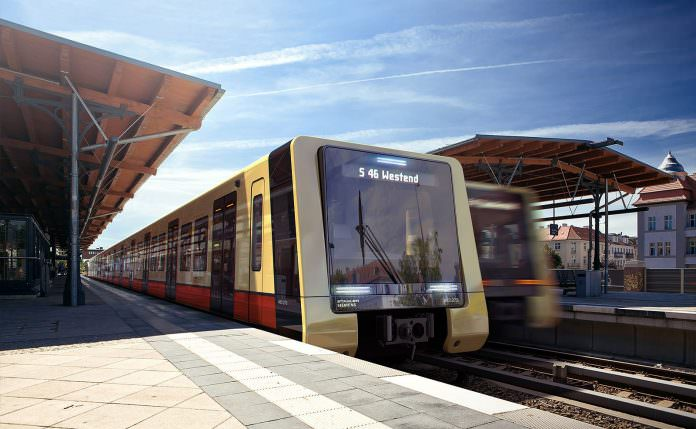 A rendering of one of the new S-Bahn trains. Photo: Stadler Pankow GmbH/ Büro+staubach Berlin.