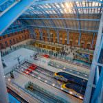 The renovated Barlow Shed welcomes its first Eurostar train. Credit: Bechtel.