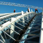 The roof of St Pancras International station. Credit: Bechtel.