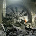 A tunnel breakthrough. Credit: Bechtel.
