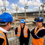 Bechtel's HS1 project director Allie MacAdam (pictured in the middle), who has gone on to lead Bechtel's delivery of Crossrail and its global rail division. Credit: Bechtel.