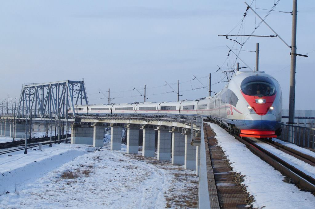 A Siemens Velaro train in Russia. Credit: Siemens.