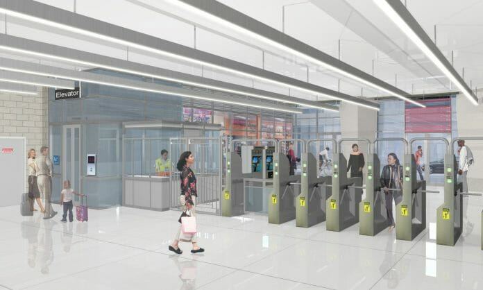 Conceptual rendering of Bryn Mawr stationhouse interior. Photo: Chicago Transit Authority.