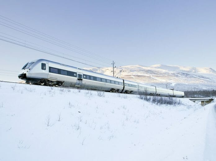 Bombardier conducts winter tests on the Iron Ore Line (Malmbanan), Sweden. Photo: Bombardier / Kasper Dudzik.