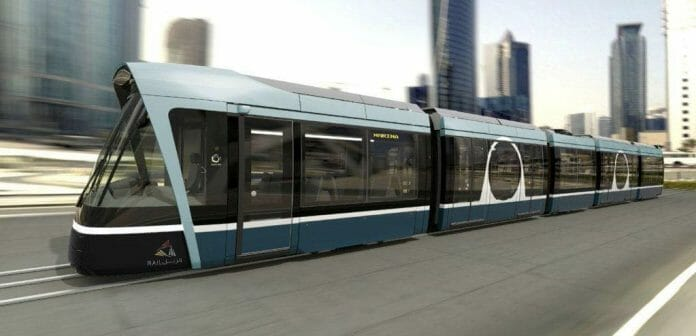 A computer generated image of the Doha Metro. Photo: Alstom/Qatar Rail.