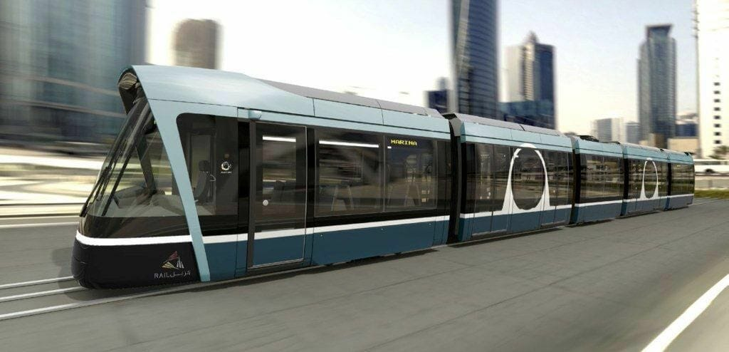 A computer generated image of the Doha Metro. Photo: Alstom/Qatar Rail.