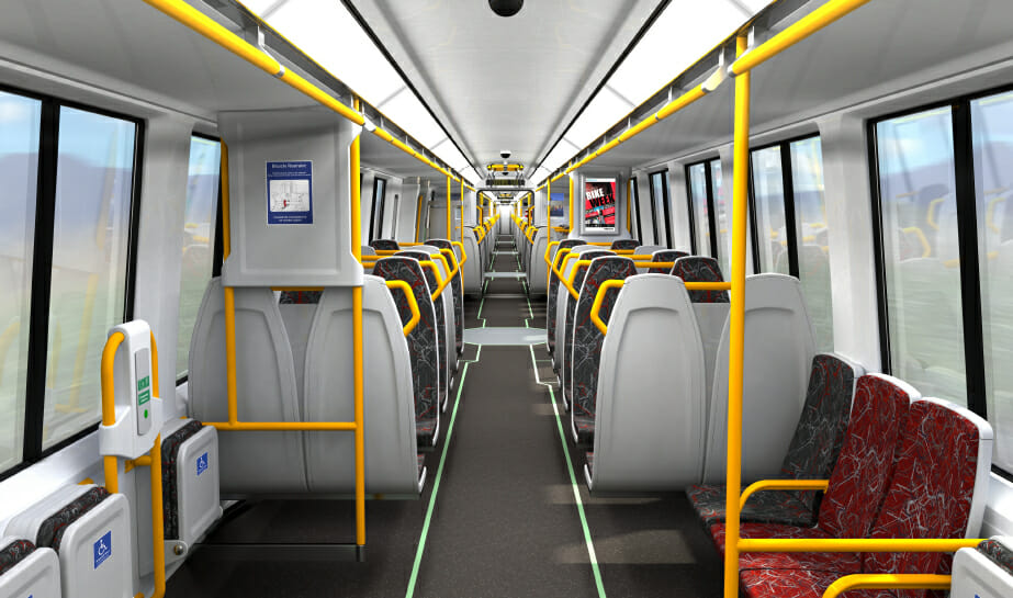 A CGI of the inside of the new trains. Photo: Qtectic.
