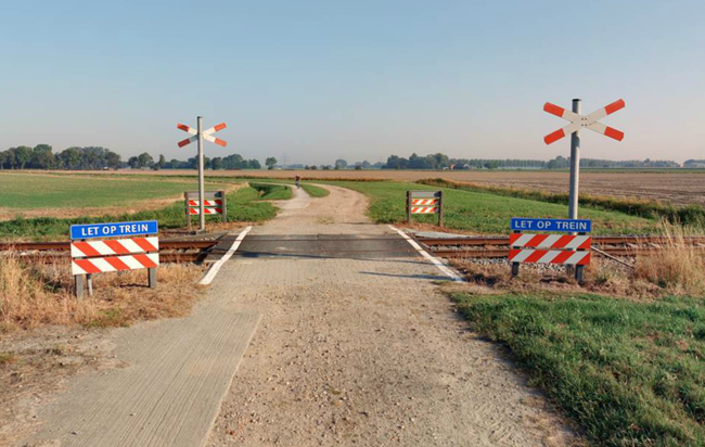 An unguarded level crossing in the Netherlands. Photo: ProRail.