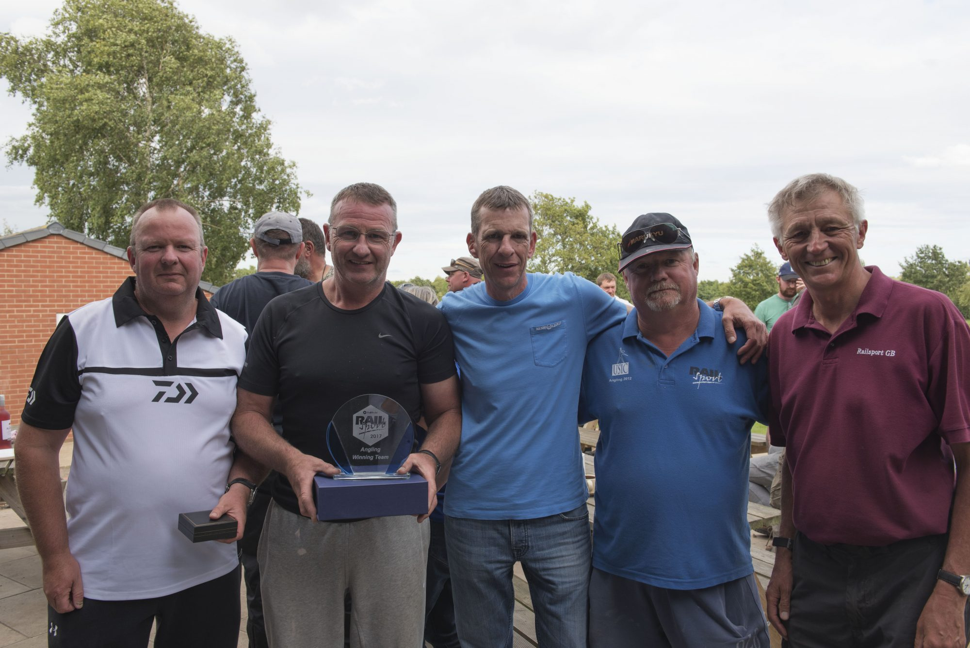 David Franks, far right, was a coarse fishing enthusiast and a supporter of the Rail Sport Games' Angling Championship.