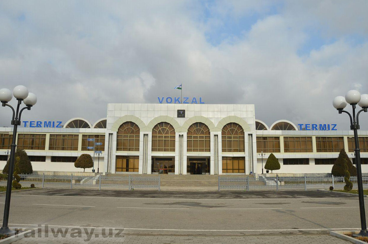 Termez station. Photo: Uzbekistan Railways.