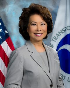 US transport secretary Elaine Chao. Photo: US Department for Transport.