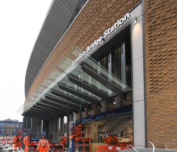 London Bridge station's new concourse entrance. Photo: Network Rail.