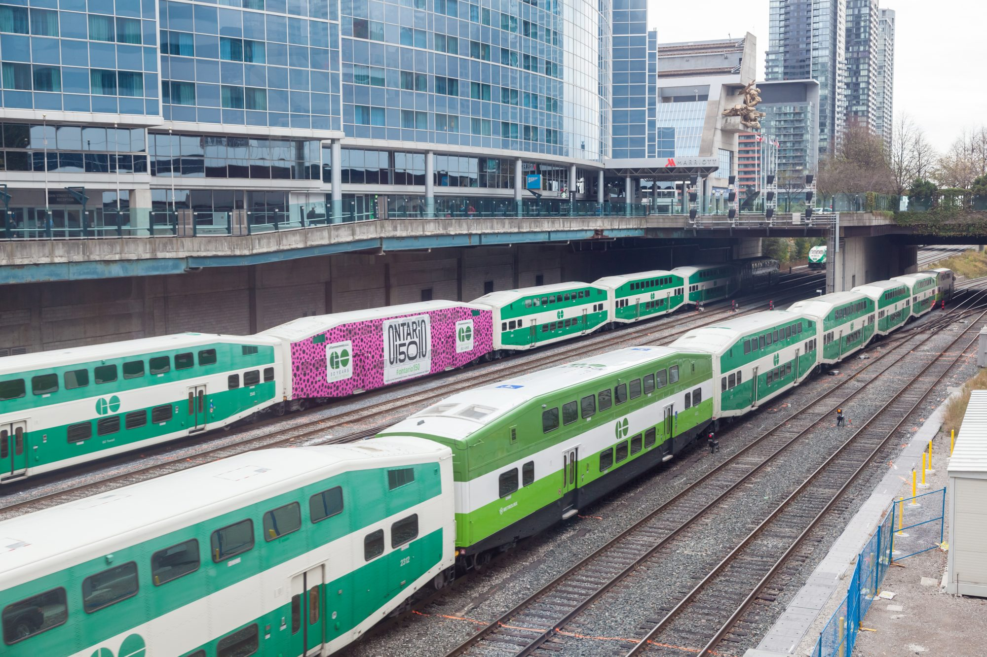 Go Transit trains. Photo: Philip Lange / Shutterstock.com.