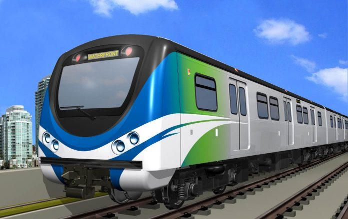 An artist's impression of the Hyundai Rotem electric train to be made for Vancouver. Photo: Hyundai Rotem.