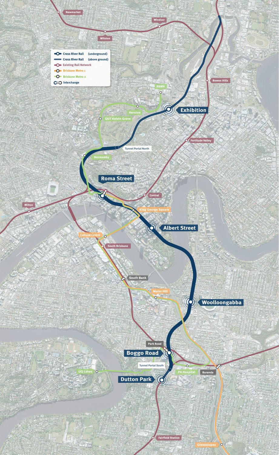 Click the image above of the Cross River Rail route to see it in high-resolution. Photo: Cross River Rail.