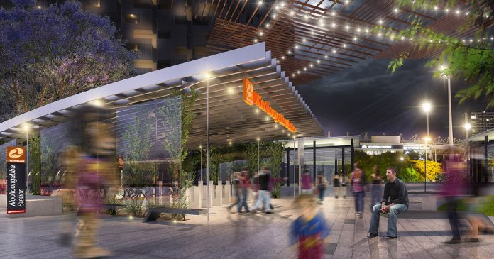 An artist's impression of Woolloongabba station. Photo: Cross River Rail.