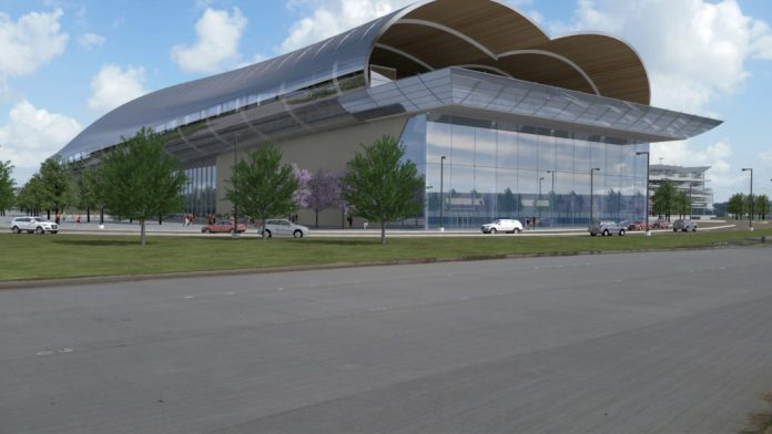 A rendering of the Houston 'Bullet' train station. Photo: Texas Central.