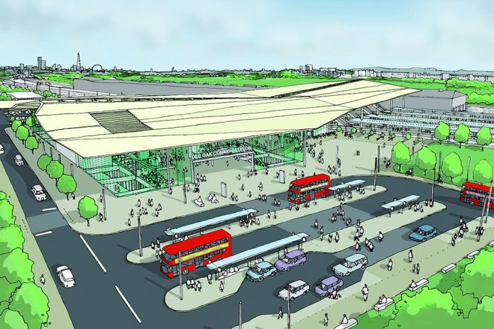 CGI of Old Oak Common.