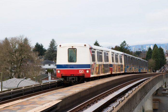 A SkyTrain on the Expo line. Photo: Pepperer85 / Shutterstock.