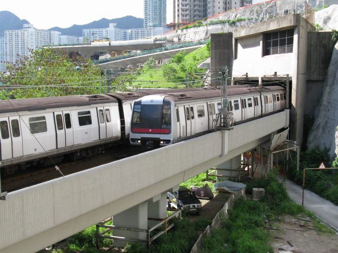 One of MTR's Metro Cammell-built trains on the Kwun Tong line. Photo: Baycrest.