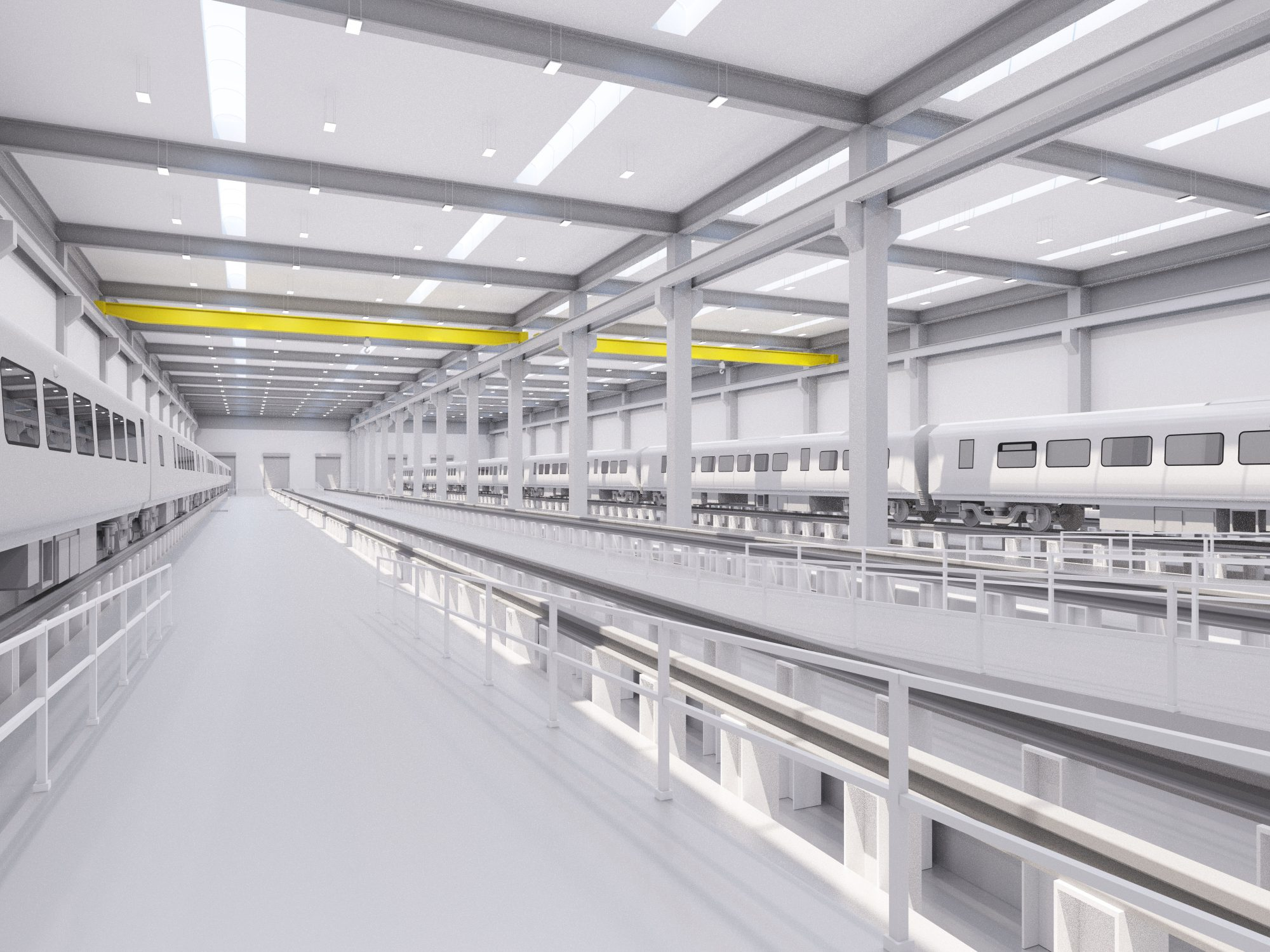 An artist's impression of Siemens' train factory. Photo: Siemens.