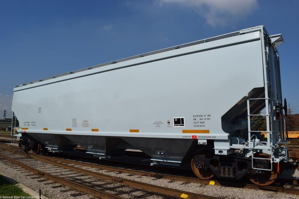 National Steel Car's 5,431 cubic ft hopper. Photo: National Steel Car.