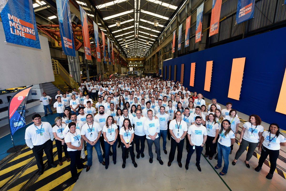 Staff at GE Transportation's plant ing Contagem, Brazil. Photo: GE Transportation.