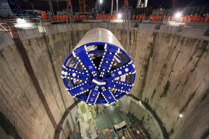 One of the tunnel boring machines used as part of Crossrail. Photo: Crossrail.