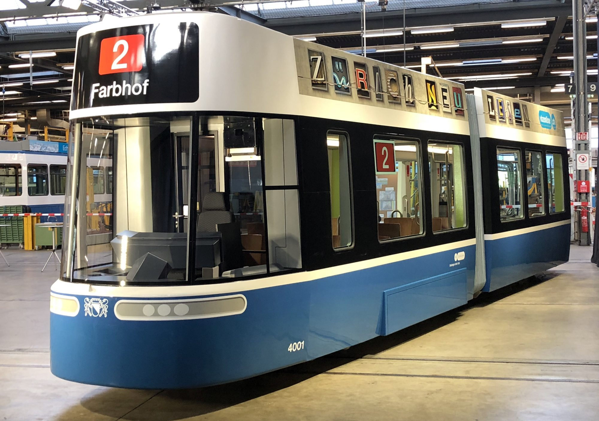 The VBZ workshop team fabricated a mock-up of the Bombardier FLEXITY tram model. Photo: Bombardier